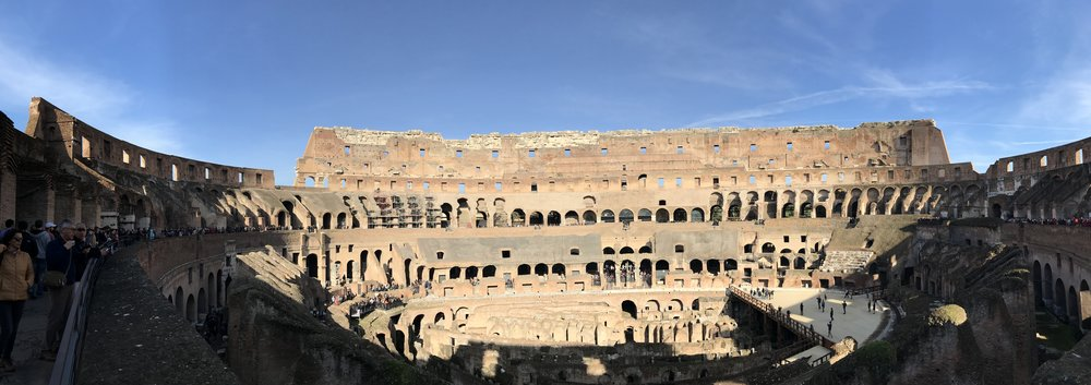 Panoramic View in the Colosseum