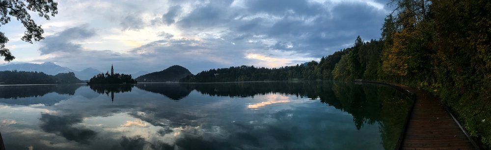Panorama from Lake Bled