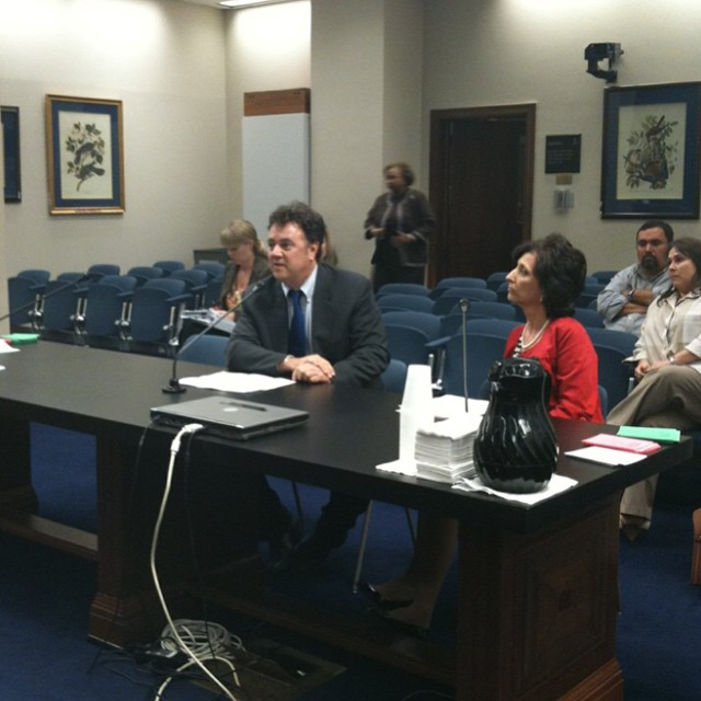 Testifying in from of the Louisiana Senate Education Committee