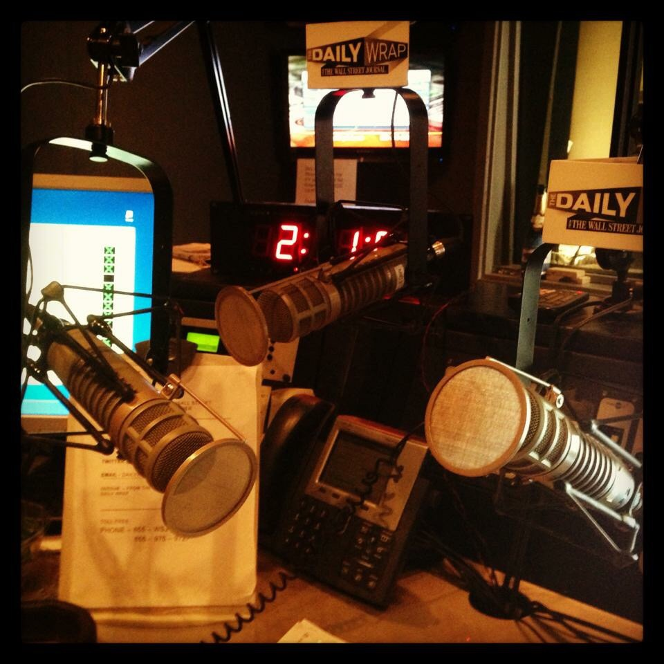 """""""Tommy can you hear me?"""" My @wsj Radio studio in #NYC"""