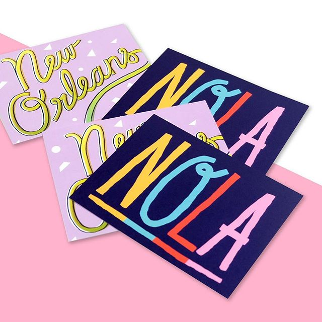 So excited to be a part of #beingbossNOLA! 💖 Custom post cards for the ladies over @beingbossclub, who are always so inspiring! Tag us in your NOLA swag ✨