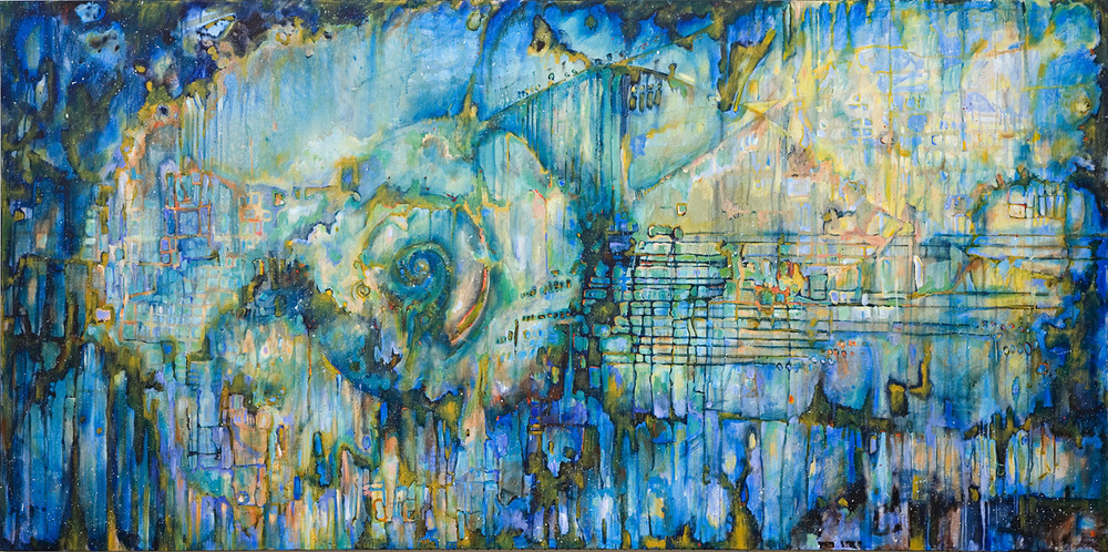 "Das Lied von der Erde, Acrylic on Canvas, 48"" by 96"", 2007. In the collection of the Beaverbrook Art Gallery"
