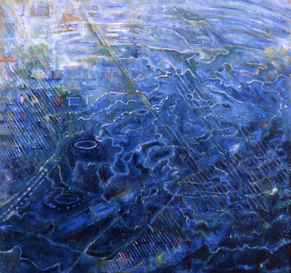 "Oceanus, Acrylic on Canvas, 60 by 60"", 2005"