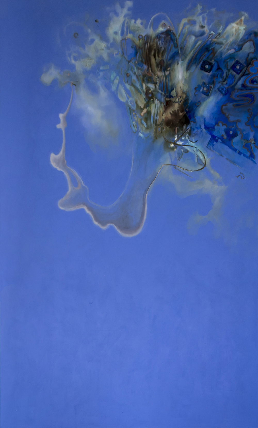 Cloud (Panel 8), Acrylic on Canvas, 10' by 7', 2015