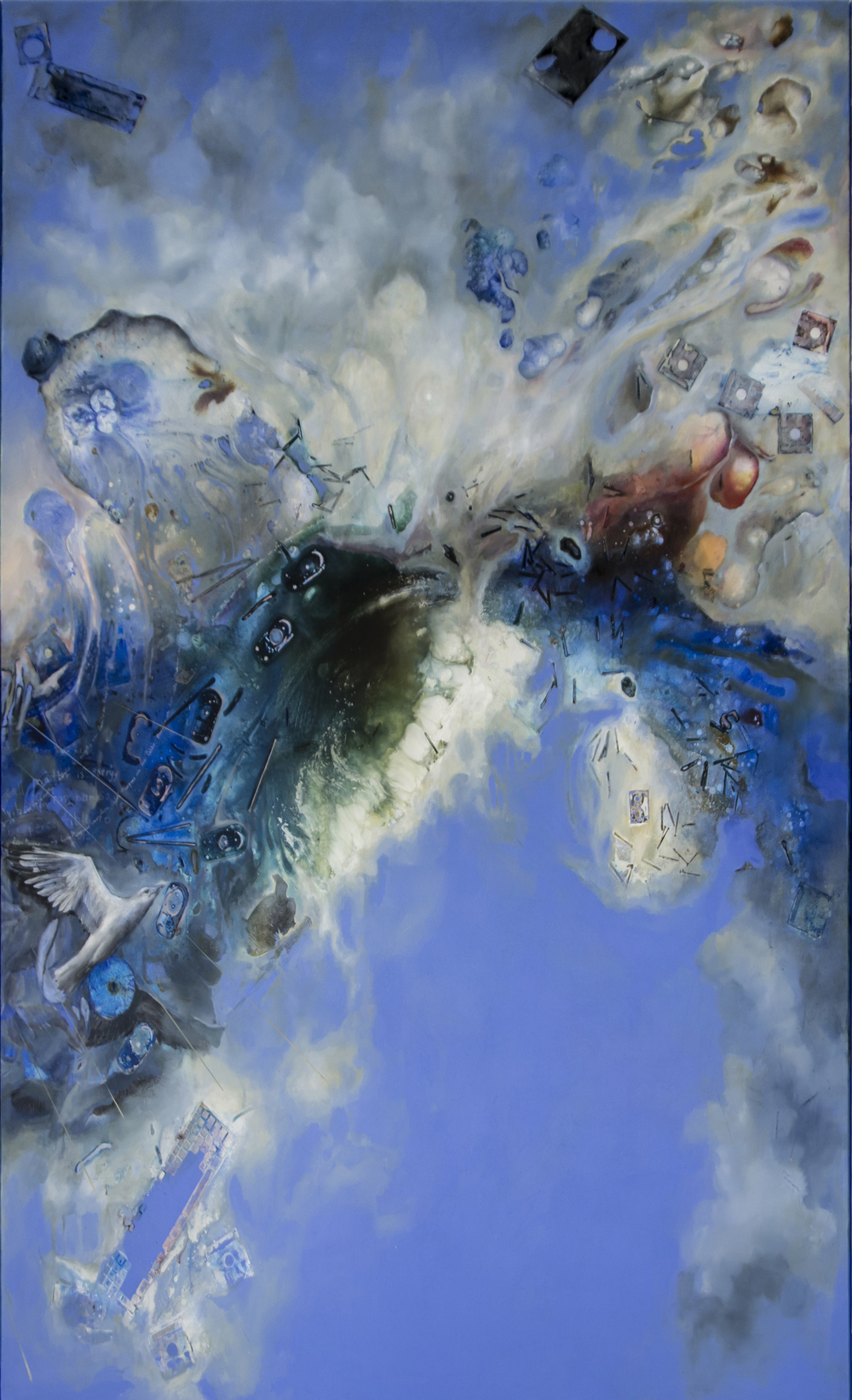 Cloud (Panel 3), Acrylic on Canvas, 10' by 7', 2015