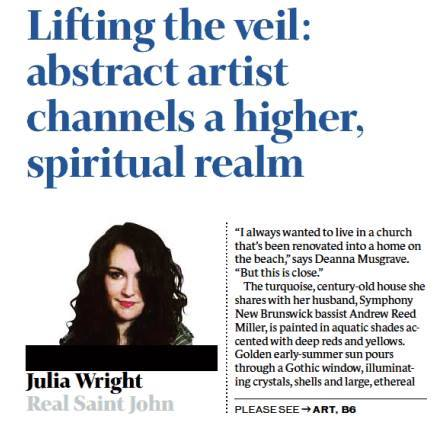Julia Wright - Telegraph Journal 2016