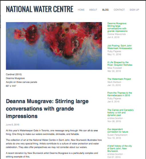 2016 - Donna Wawzonek -National Water Centre