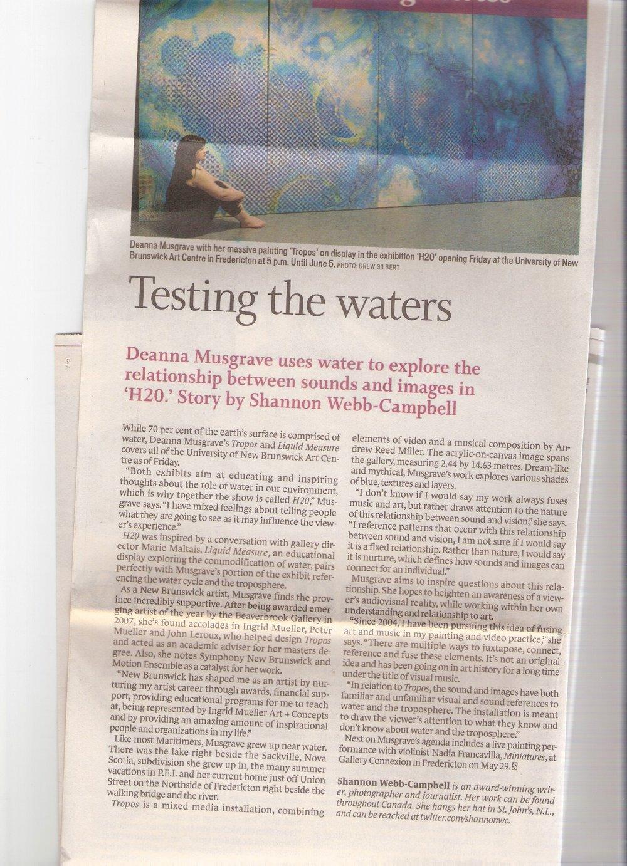 2011 - Shannon Webb-Campbell - Telegraph Journal