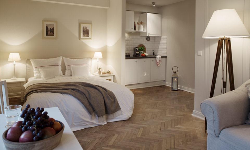 Entspannen in einem 160 cm breiten Komfort-Bett im Little Two+ unseres Boutique Hotels