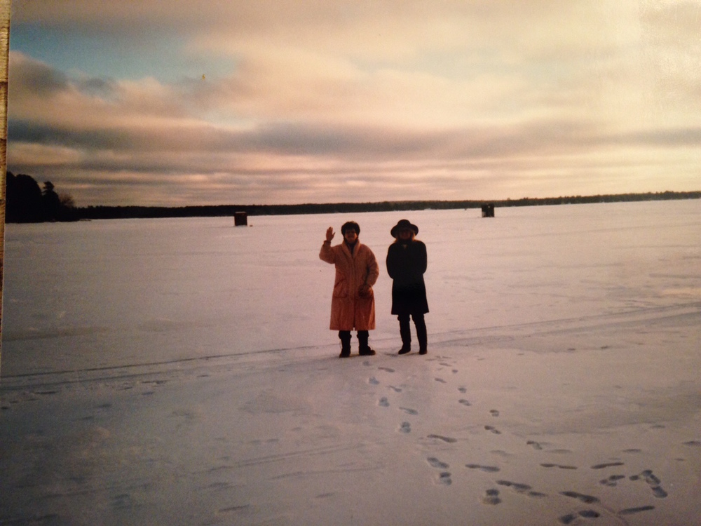 Mom & Aunt Ruthe on the frozen lake