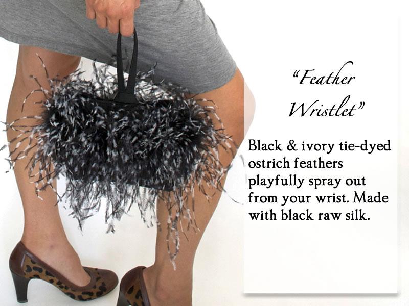 BlackWhiteFeatherWristlet.jpg