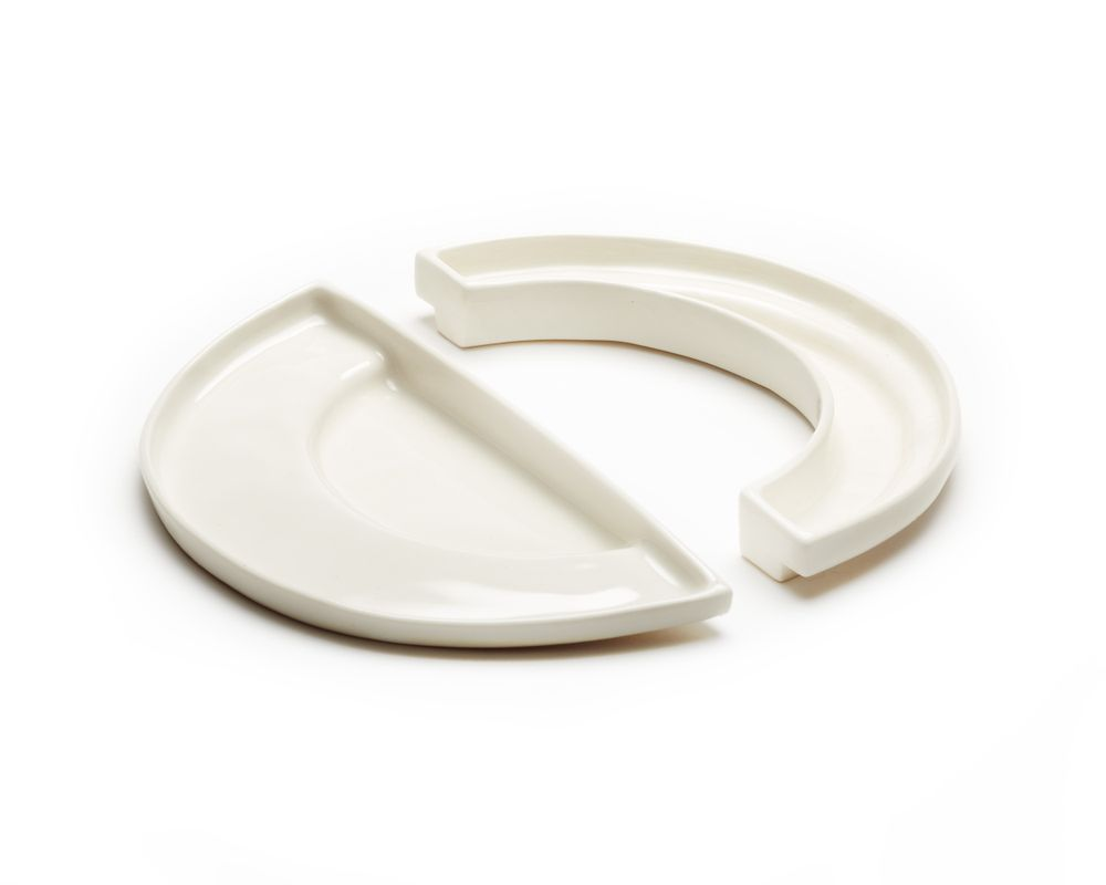 porcelain dishes by ARC objects in complimentary shapes