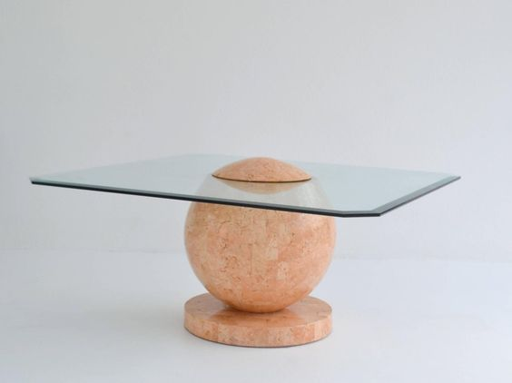 1980s Tessellated Stone Cocktail Table