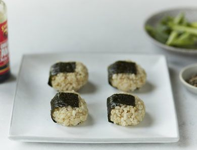 brown rice onigiri