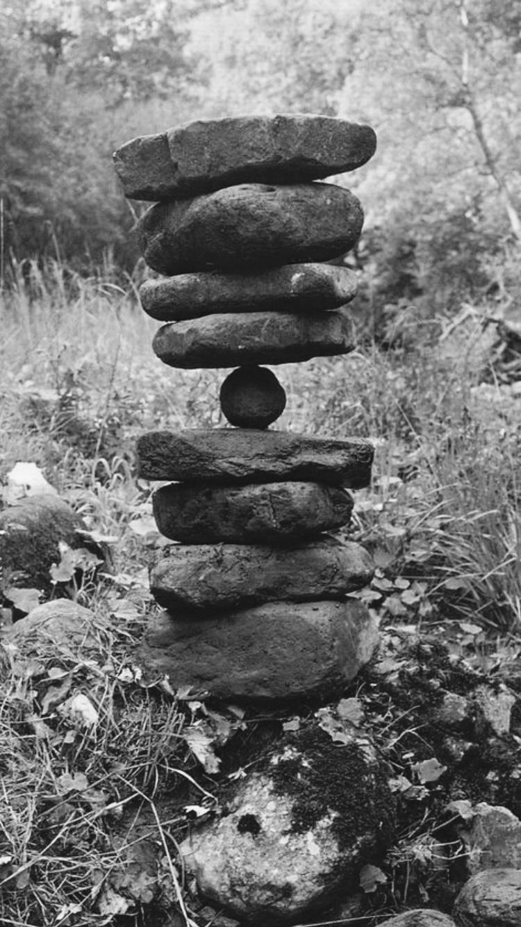 Balanced River Stones, Brough, Cumbria, 1982, Andy Goldsworthy