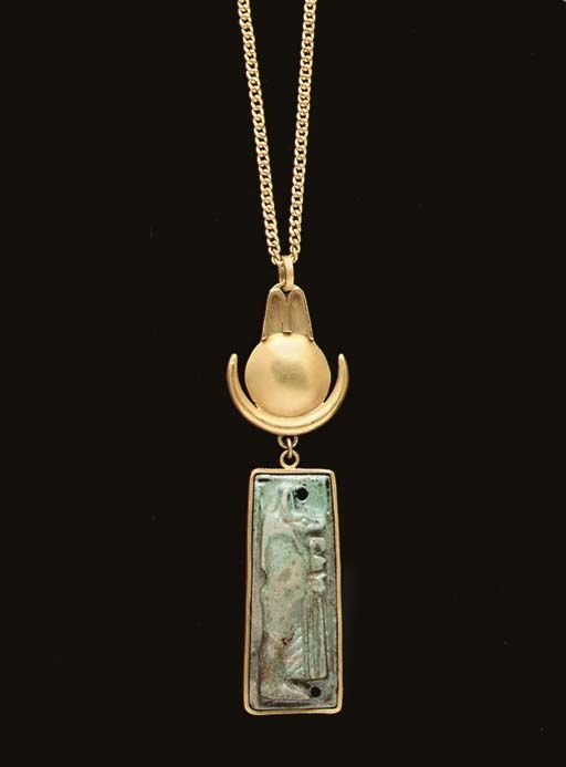 Egyptian Faience Amulet, Ca. 500 BC.
