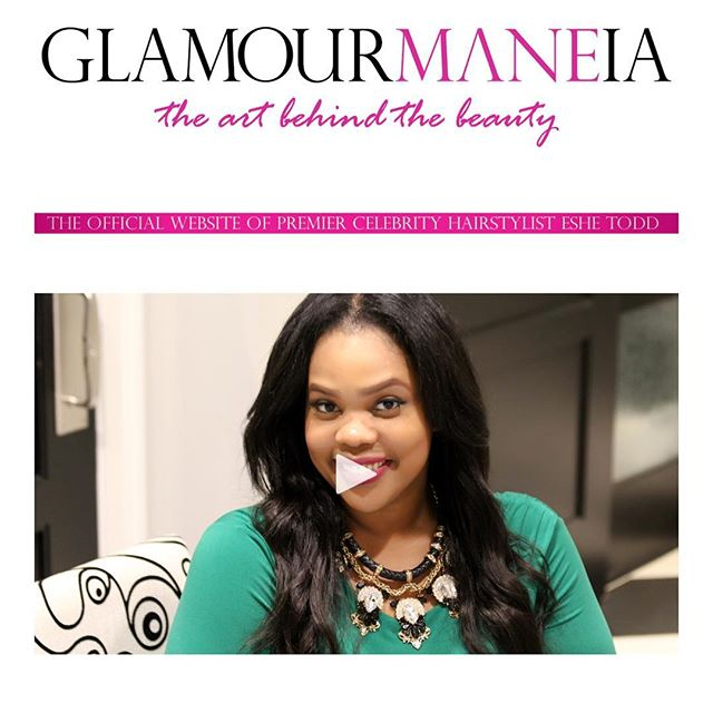 Congratulations GlamourMANEia on there new site! #goodhairday #celebrity #stylist www.GlamourMANEia.com