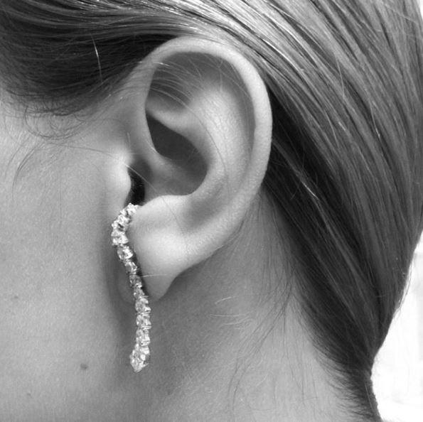 Diamond Contour Earring