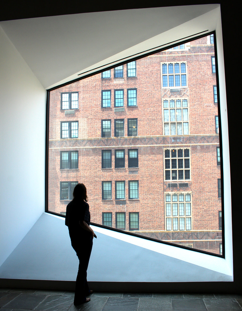 The designer at the Met Breuer. For the native New Yorker, a perfect New York City day would include a run around the reservoir in Central Park, or along the East River, then a coffee at the Met Breuer and a walk on Madison or Fifth, and then a ferry ride going to Brooklyn for dinner.
