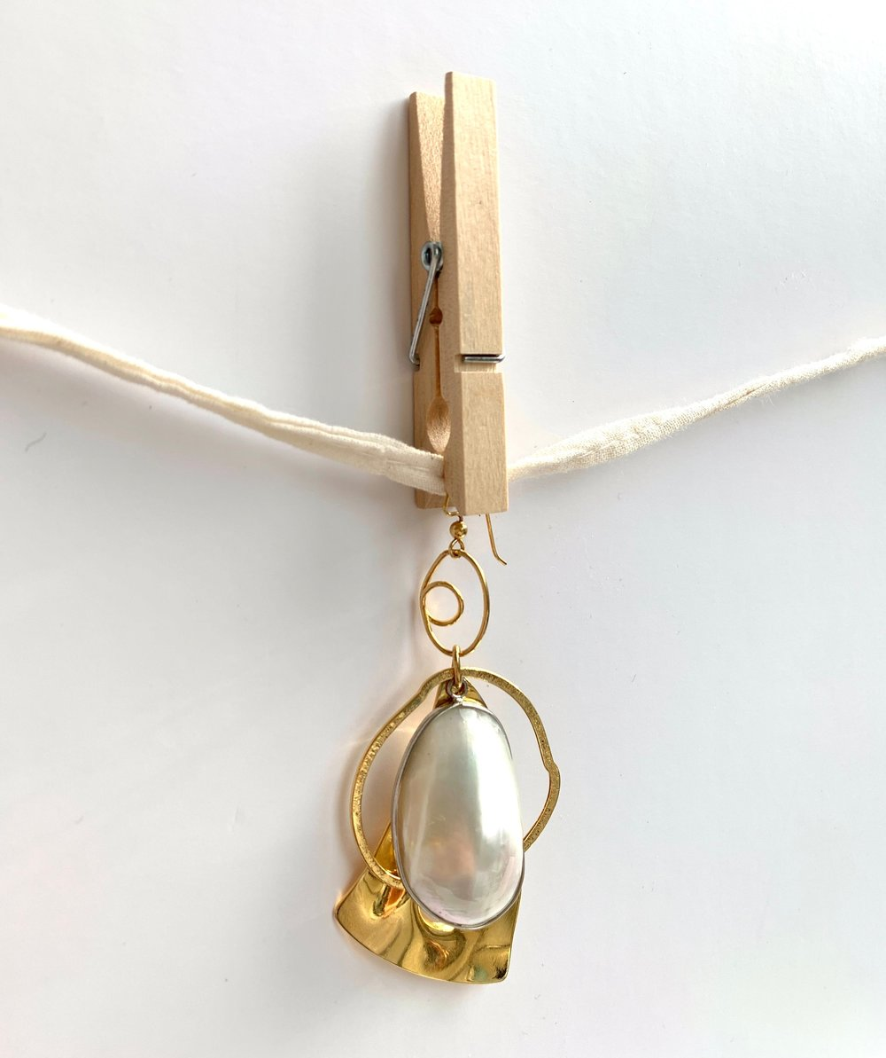 Sea forms earring