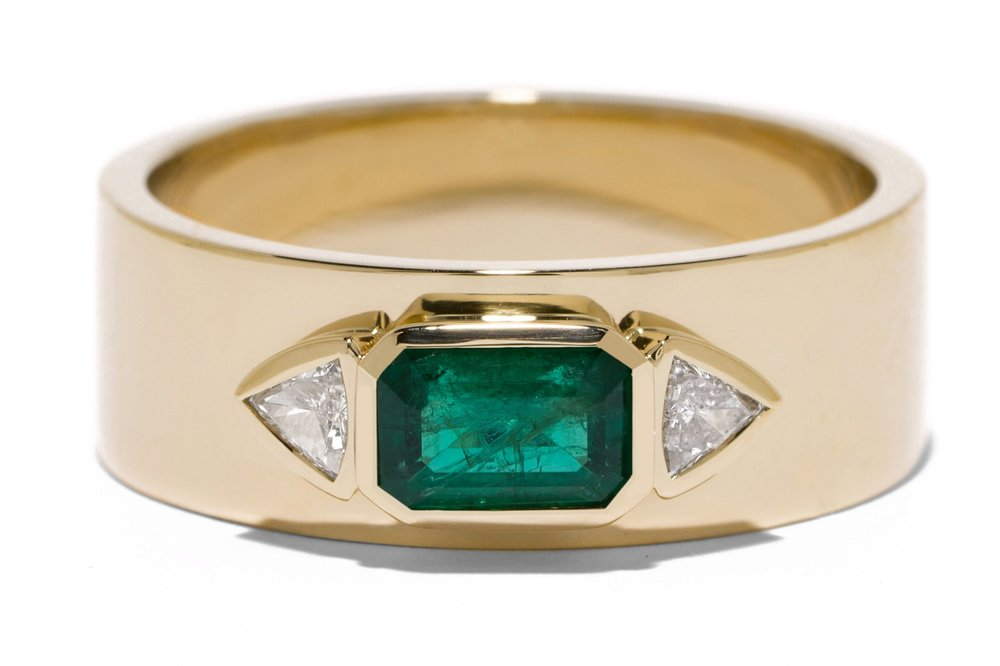 Emerald NESW Diamond Ring  - Photo courtesy of Azlee