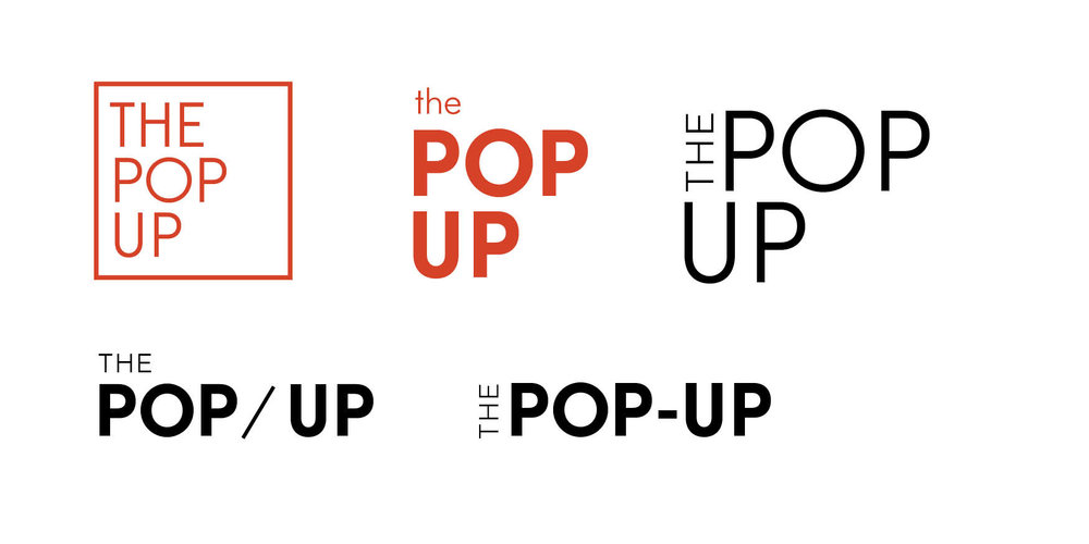 Pop-up logo explorations