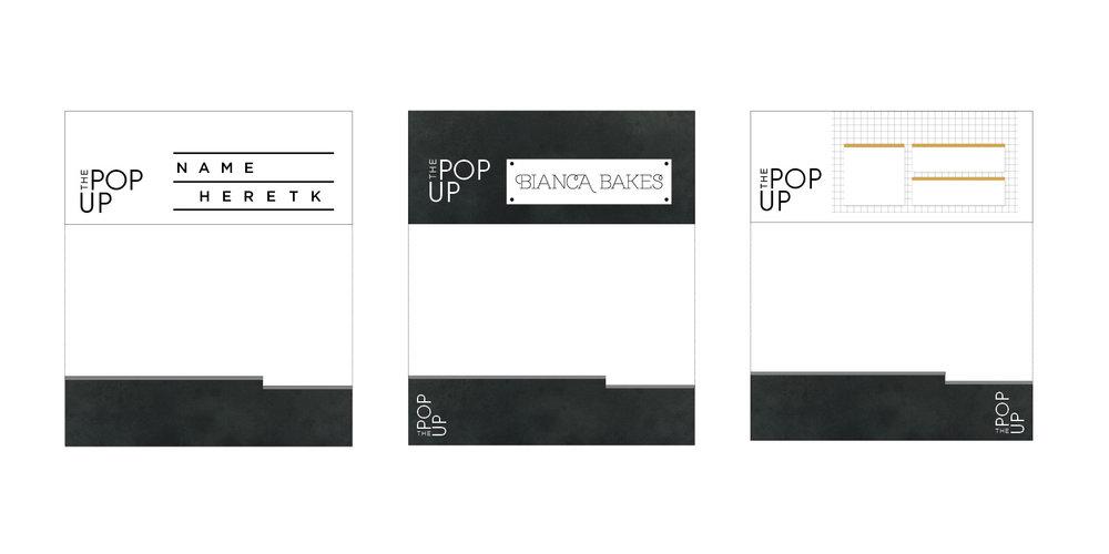 Pop-up stall facade prototypes