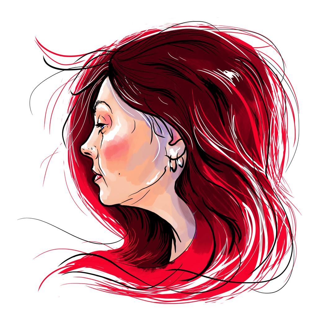 Self-Portrait, Digital Illustration, Lisette Murphy, 2016