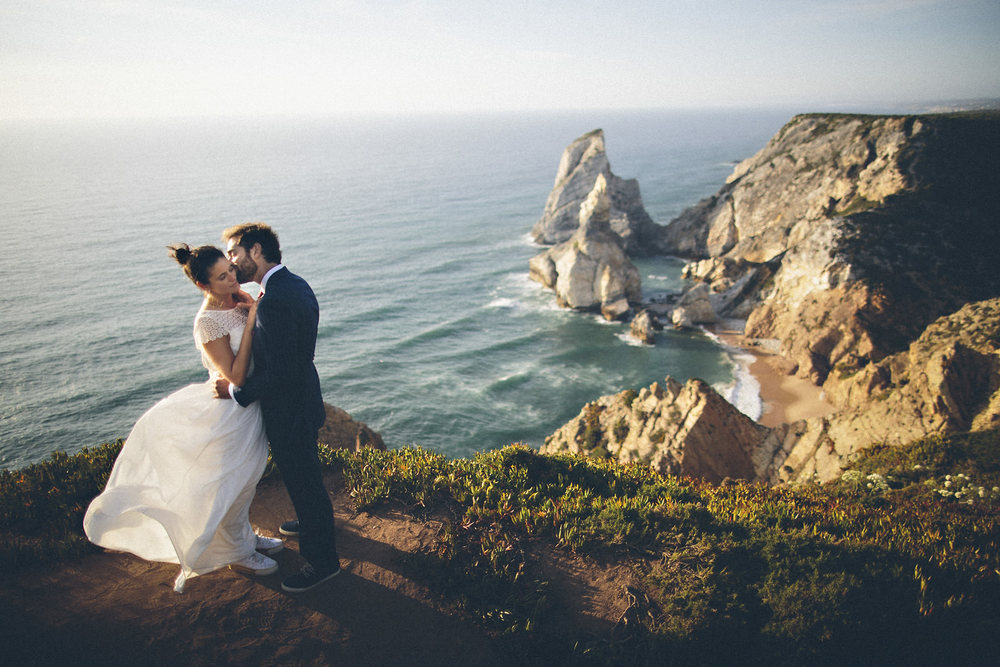 ocean-cliff-wedding-day-portrait