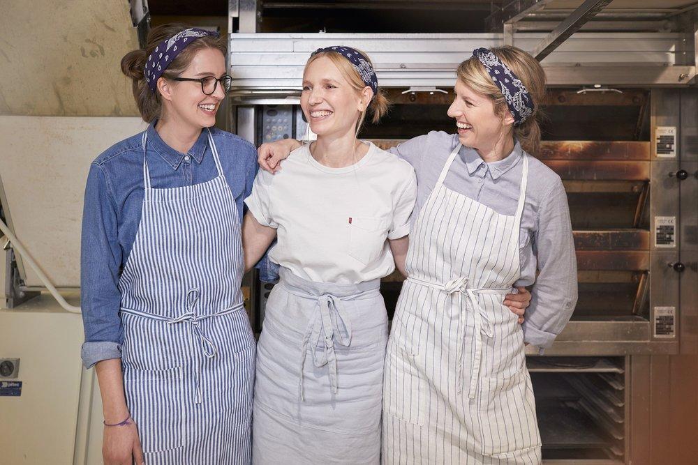 von links nach rechts: Melanie, Sibylle und Karin