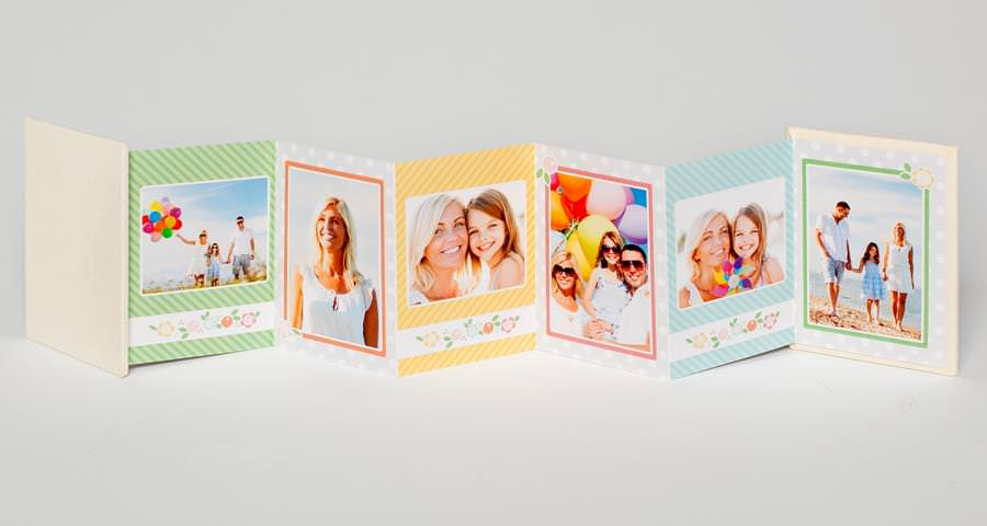 "Accordion Style Photo Book (images are either 2.5""x3"" or 3""x3"")"