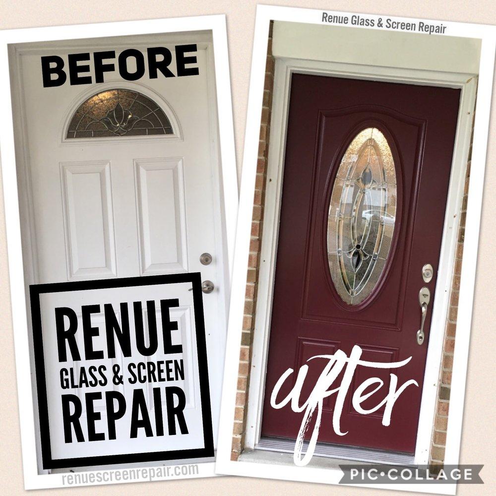 Renue Glass and Screen Repair Front Entryway Door Installation