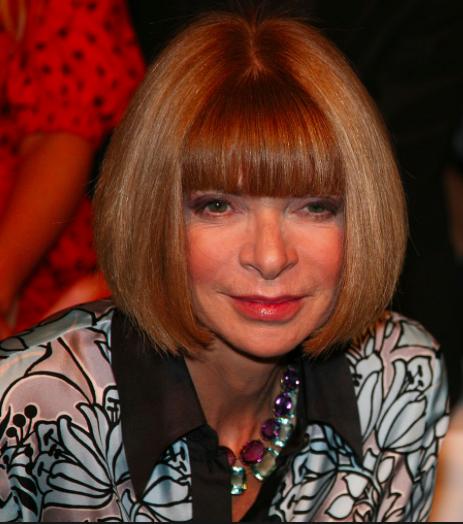 Anna Wintour,photo courtesy of Wikimedia commons