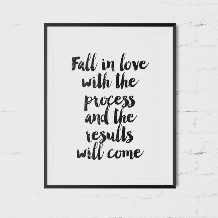 fall in love with the process and the results will come.jpg