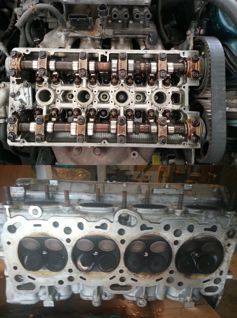 Cylinder head Top and bottom pics