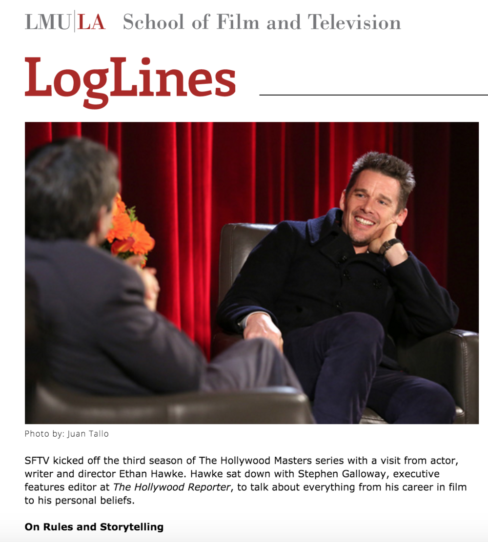 """The Hollywood Master: Ethan Hawke"" / Amanda Lopez 