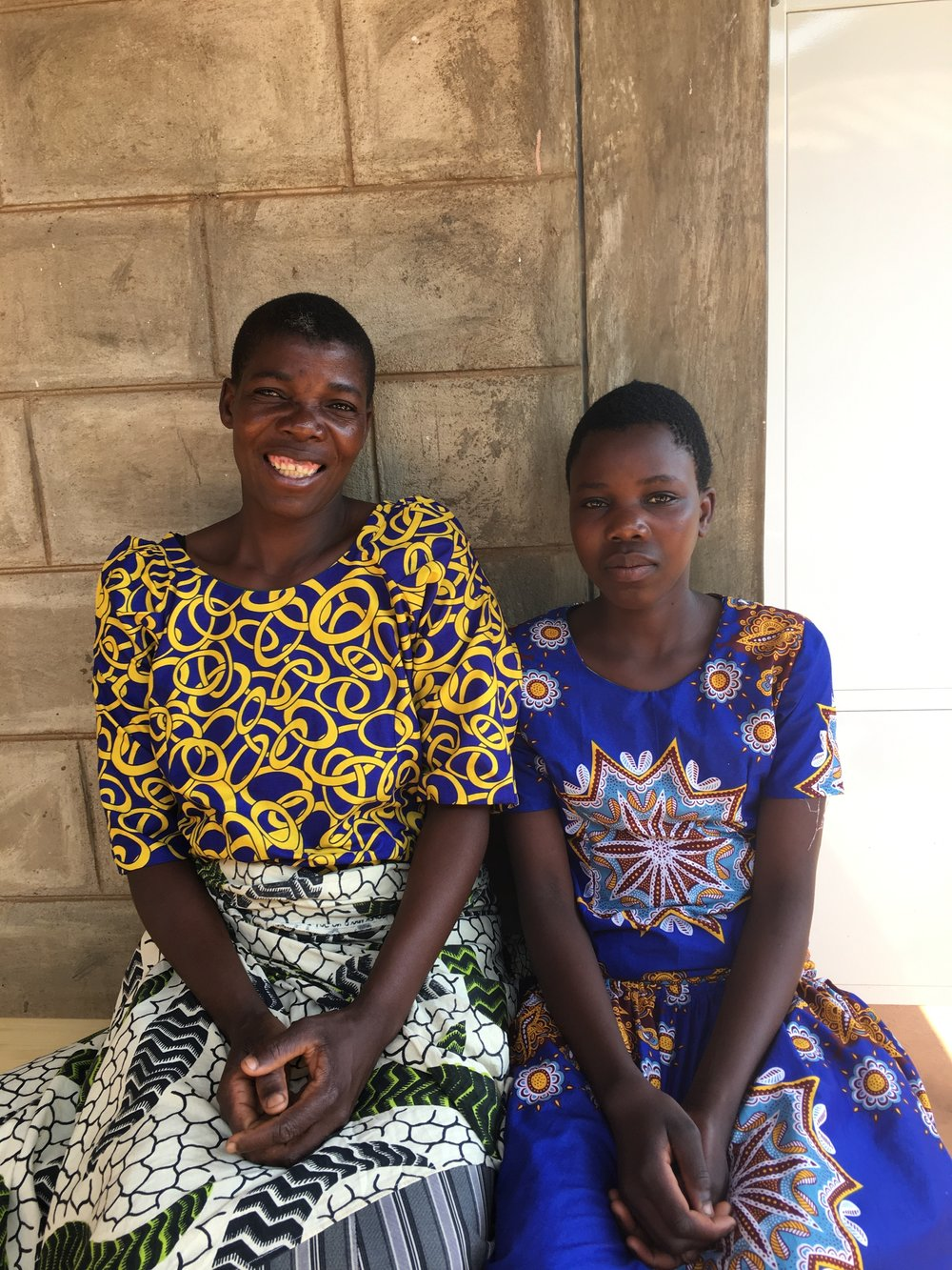 Coletta (right) our patient, and her mother (left).