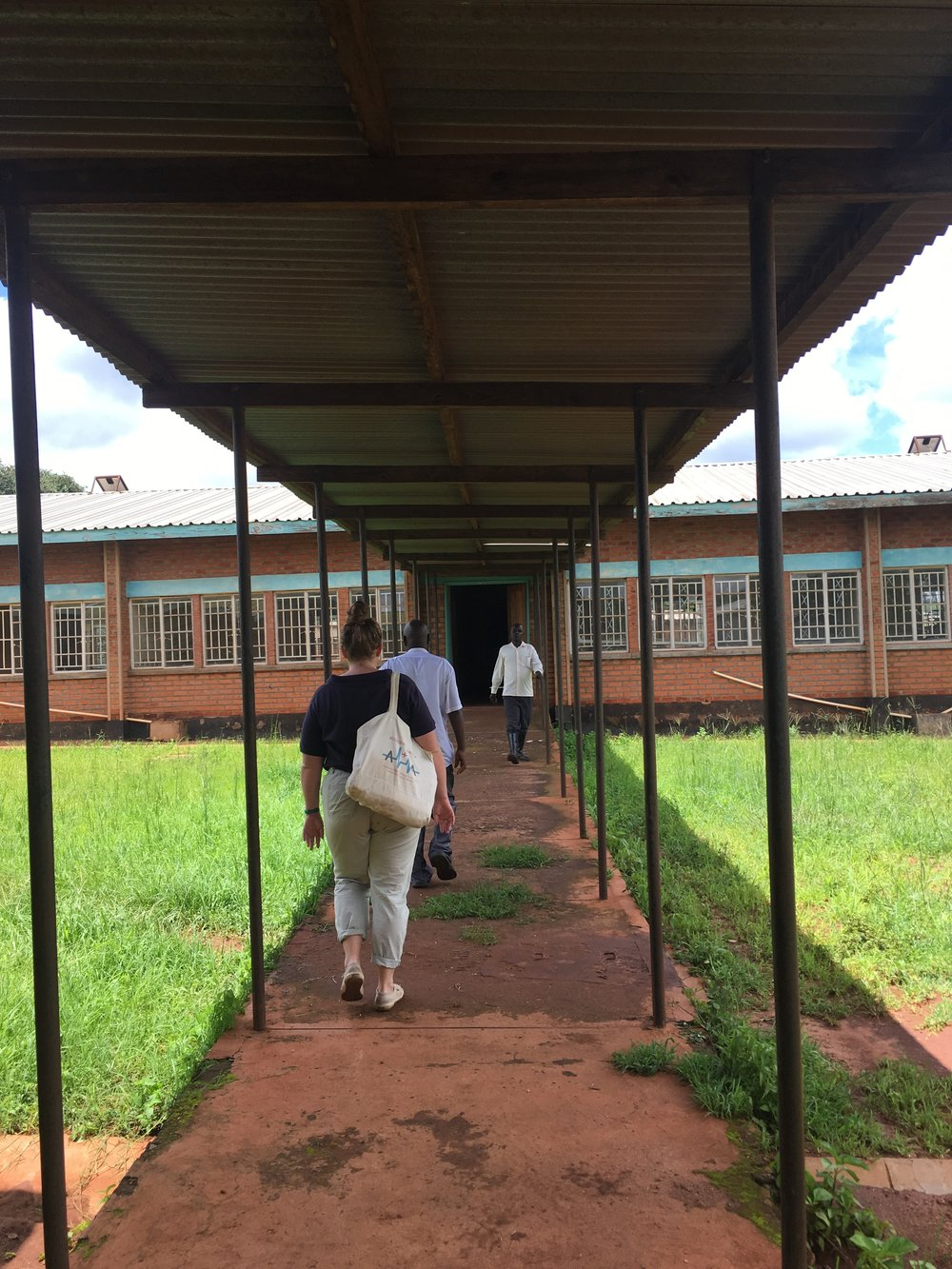 On a tour of Chilobwe Health Center