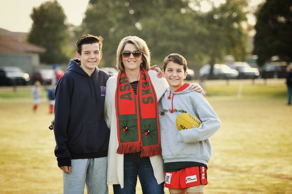 Round 4 was Mother's Day Round at the Ashy Redbacks - thanks to Gavin Blue @gavinbluephoto for this fantastic photo of Amanda Sellers and her sons Tyler and Alec