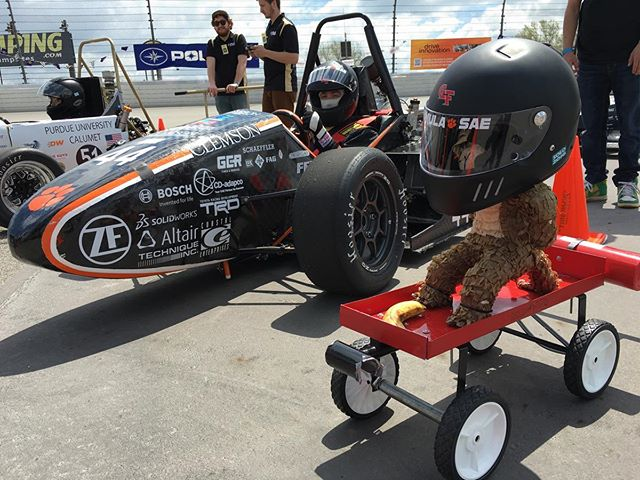Taking it back to Michigan 2016 for #motivationmonday #12daysofcomp We're nominating @formulabuckeyes for the challenge . . . #fsae #BringBackPushbarComp  #formulastudent #motorsport #competition #clemson #tigers #racing #speed #allin #engineering #40 #natty #pushbar #champs