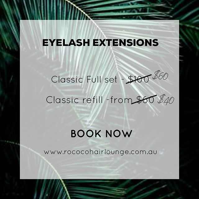 Our beauty therapist Tori is introducing lash extensions. And to kick it all off we have a super special. Tori is a fully qualified lash technician but being a new service it just takes a little longer than usual at the moment. You can book online www.rococohairlounge.com.au or call the salon on 5333 1725 offer is valid until 31st May 2018