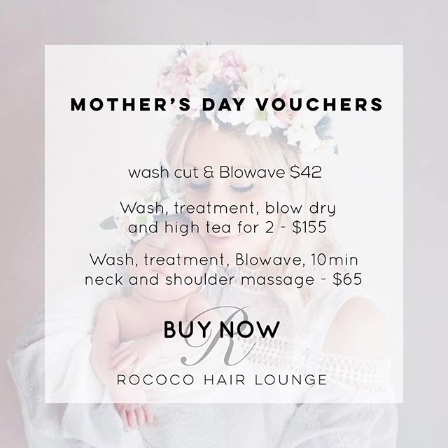 Still looking  for the perfect Mother's Day gift? What better way to say 'I love you Mum' than pampering her! Vouchers available in salon- open until 8pm Thurs, 5:30pm Fri and 1:30pm Sat. Photo credit #justinelocandrophotography