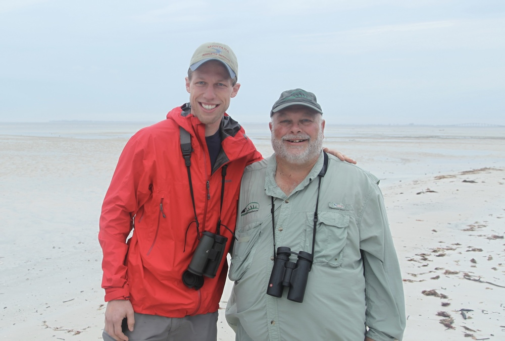 Christian with Big Year Birder Greg Miller