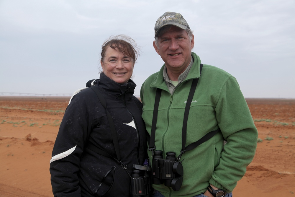 Phyllis and Tony at the field where the Common Crane Blitz occurred