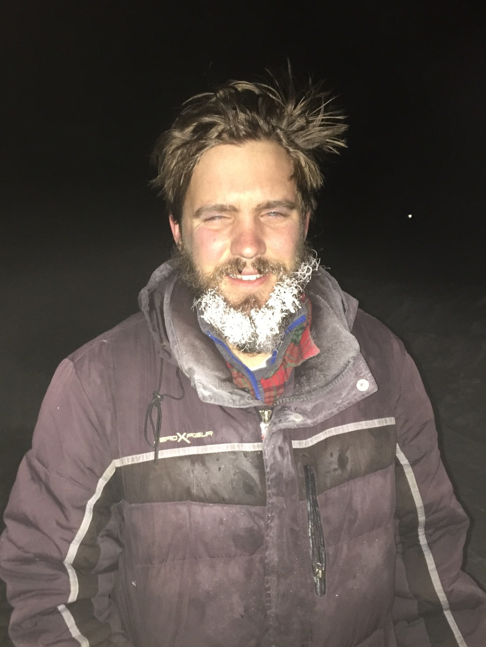 Andy after our 6-mile snowshoe at 13,000 feet in 0 degree temps to find Boreal Owl. None were heard.