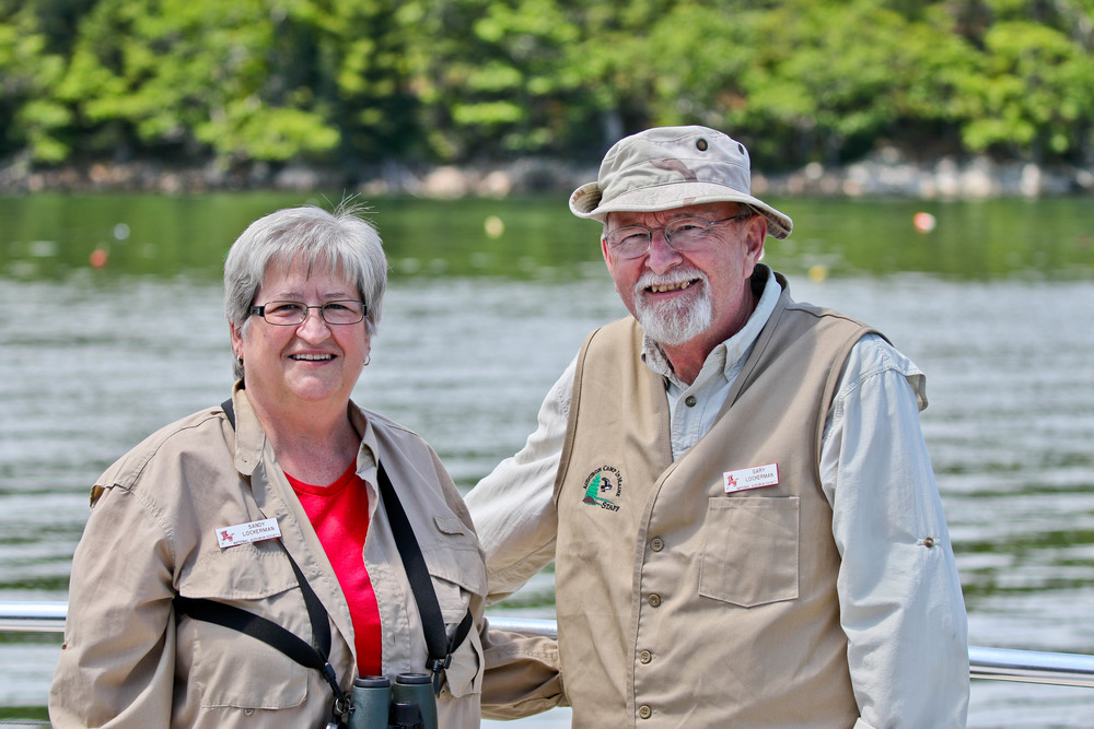 Sandy (left) and her husband Gary are both licensed bird banders, and led workshops on bird banding this week