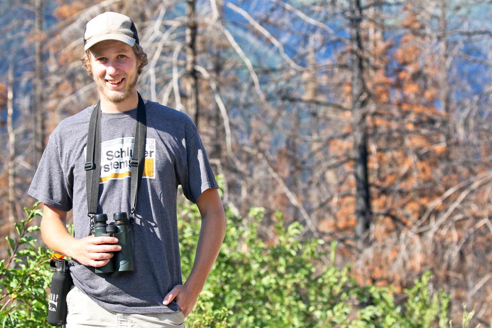 Andrew in Glacier National Park