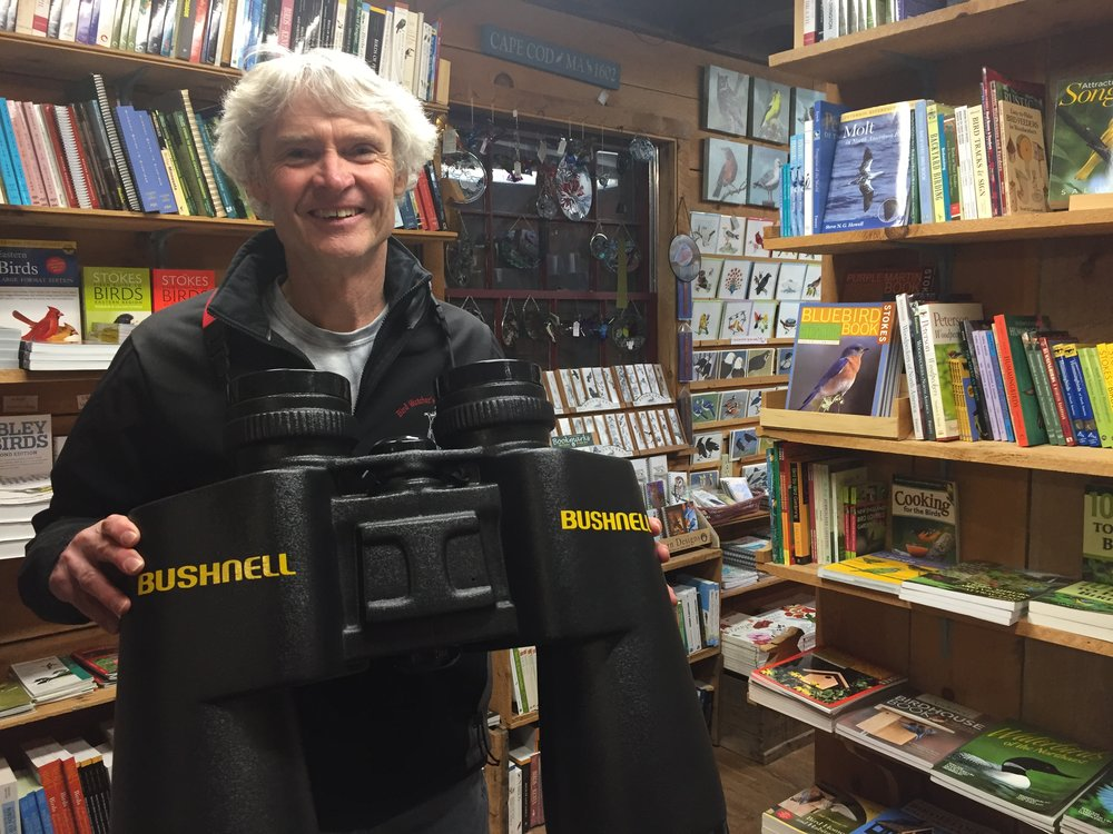 Mike wins the award for largest pair of binoculars this year!