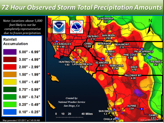 National Weather Service rainfall already fallen between Wednesday - Saturday thus far....
