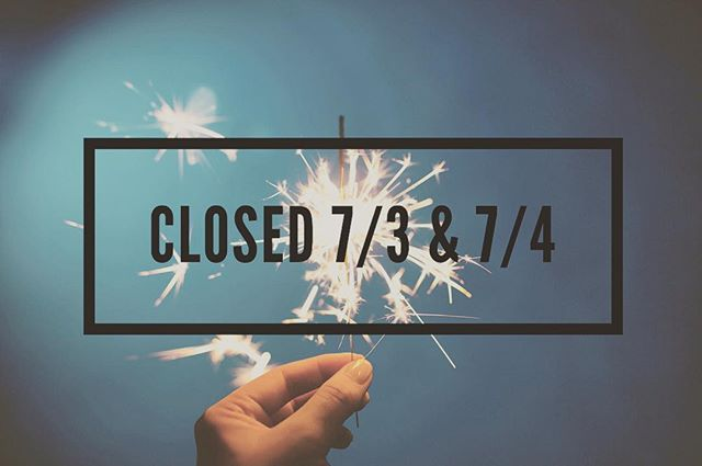 We will be closed tonight (7/3) and tomorrow (7/4) for the holiday! We will re-open (7/5) from 4pm-1am. See you all then. Happy 4th of July!